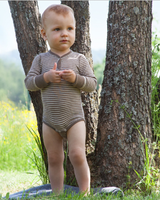 Organic Merino Wool/ Silk Long Sleeved Bodysuit