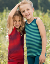 Children's Sleevless Shirt | Organic Wool/ Silk