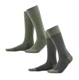 Organic Cotton Men's socks Color: 658 olive/indigo melange