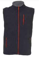 Organic Wool Fleece Men's Vest Color: Anthracite