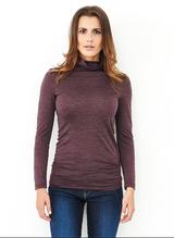 Women's Turtleneck shirt Organic Wool Silk