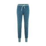 Women's Pajama Trousers Color: 781 petrol feather
