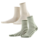 Organic Cotton Women Socks Color: 606 Olive Sand