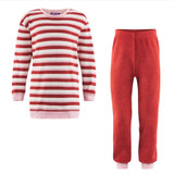Organic Cotton Terry Shirt and Pants Set Color: 548 red clay/sand