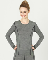 "women long sleeved athletic shirt | ""Daniela"" organic wool"
