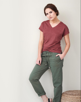Women's Organic Linen Shirt Color: 553 rosso
