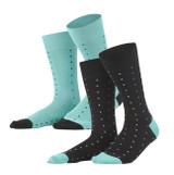 Men Socks, pack of 2 Color: 758 black/lagoon