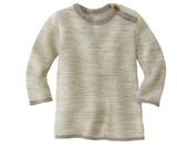 Disana Organic Wool Melange Sweater Color: 911 Grey Natural