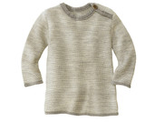 Disana Organic Wool Melange Sweater Color: 911 Grey Natural