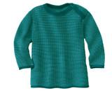 Disana Organic Wool Melange Sweater Color: 981 Pacific Lagoon