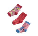 Baby Organic Cotton Socks Color: 571 poppy/white