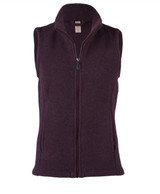 Organic Thick Wool Fleece Women's Vest