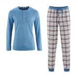 Men Flannel Pyjamas, Organic Cotton