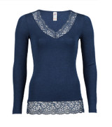 Ladies' Shirt Long Sleeved with lace