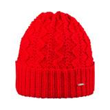 Women Organic Merino Wool Hat Color: 15 red