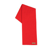 Organic Merino Wool, Cotton, Kids scarf  Color: 15 red