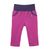 Organic Marino Wool Fleece Baby Pants Color:  24 magenta
