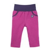 Organic Marino Wool Fleece Baby Pants Color:  24 magenta