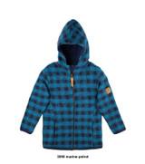 Organic Wool Fleece Kids Jacket Color: 3090 marine-petrol