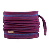 Organic Merino Wool Silk Neck Warmer Color: 3018 blue-red