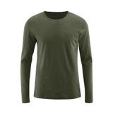 Man Long-sleeved shirt Color: 650 olive