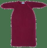Organic Wool Fleece Long-Sleeved Sleep Sack Color: Berry