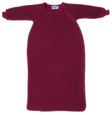 Organic Wool Fleece Long-Sleeved Sleep Sack Color: Berry