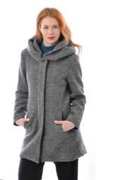 Organic Boild Wool Women Coat