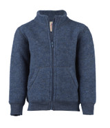 Baby zip Jacket Organic Wool Fleece