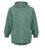 Organic Boiled Wool Zip Jacket