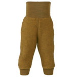 Organic Wool Fleece Pants with High Waistband Color:  018E saffron melange