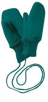 Boiled Wool Mittens Color: 281 Pacific