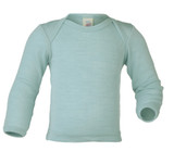 Merino Wool/Silk Baby Shirt Color: 30E glacier