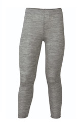 Organic Wool/ Silk Children's Leggings Color: Light Grey Melange