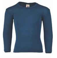 Engel Organic Wool/ Silk Children's Long Sleeved Shirt Color: Light Ocean