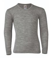 Engel Organic Wool/ Silk Children's Long Sleeved Shirt Color: Grey Melange