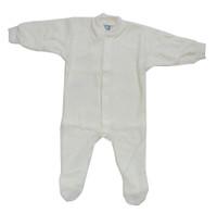 Cosilana Organic Wool Terry Footed Pajamas Color: Natural