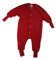 Cosilana Organic Wool Terry Pajamas Color: Red