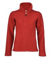 Organic Thick Wool Fleece Women's Jacket Color: 060 Red Melange