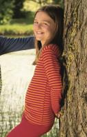 Children's Long Sleeved Shirt | Engel Organic Wool/ Silk Cherry Red / Orange