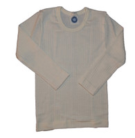 Organic Wool/ Silk/ Cotton Long Sleeved Shirt for Kids Color: Natural