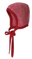 Knitted Melange Bonnet Color: 31 Red Nature