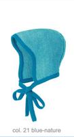 Knitted Melange Bonnet Color: 21 Blue Nature