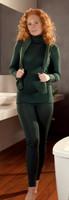 Engel Organic Wool/Silk Women's Leggings Color: Pine Green