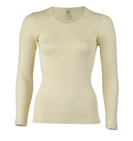 Engel Organic Wool/Silk Women's Long Sleeved Shirt  Color: Natural