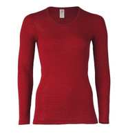 Engel Organic Wool/Silk Women's Long Sleeved Shirt  Color: malve