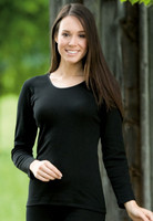 Engel Organic Wool/Silk Women's Long Sleeved Shirt  Color: Black