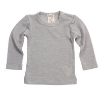 Organic Wool/ Silk Long Sleeved Shirt Color: 255 grey melange