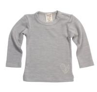 Organic Wool/ Silk Long Sleeved Shirt Color: 255 grey melange