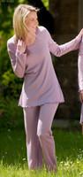 Organic Wool/ Silk Women's Pajama Pants Color: lilac